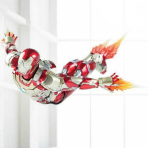 Floating Ironman toy photography